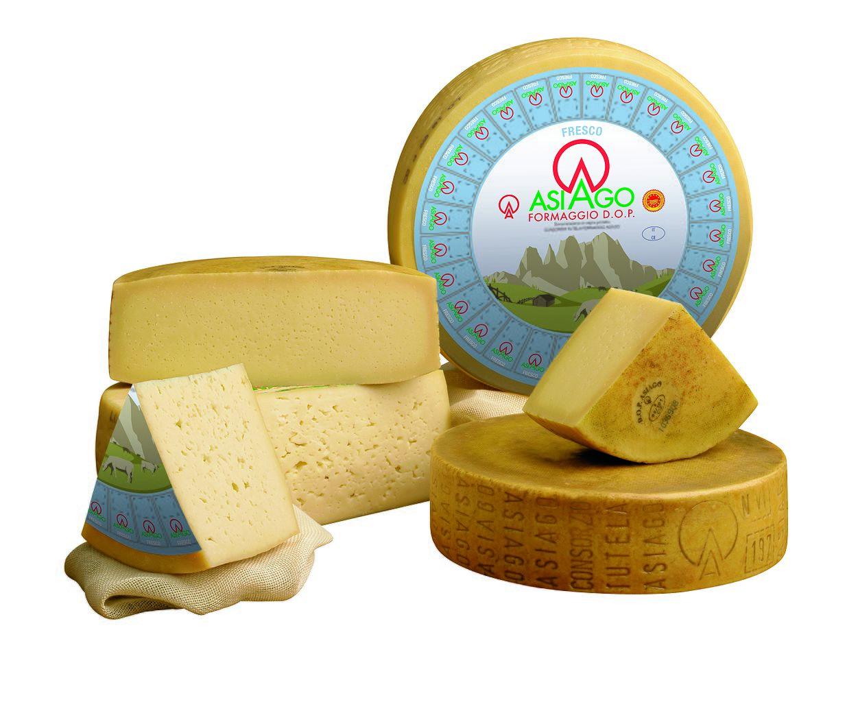 Formaggio Asiago cheese wheel wheel