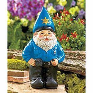 Gnome policeman statue