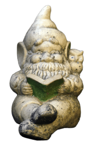 Gnome and owl statue