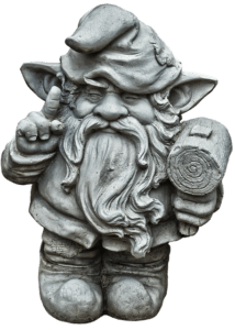 Gnome with hammer