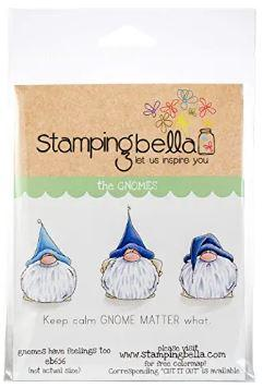 gnome stamps - gnomes with blue hats