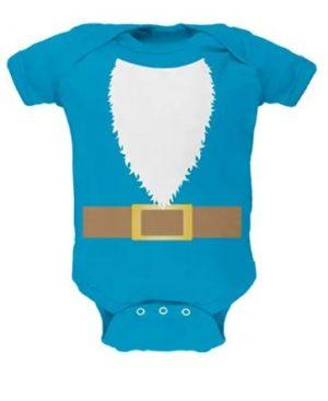 Turquoise Gnome costume baby one piece
