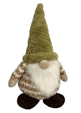 brown gnome plush toy for cat and dog