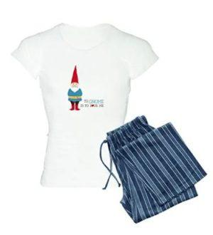 Women's cotton gnome pajamas