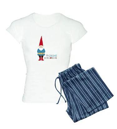 Women's cotton gnome pajamas