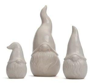 3 White Contemporary Gnomes