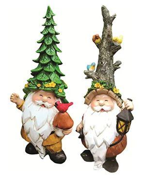 2 indoor forest gnomes