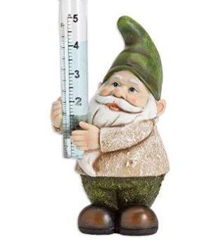 Rain Gauges Outdoor Gnome Figurine
