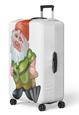 Garden Gnome Travel Suitcase Cover Protector