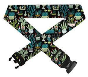 gnome succulent luggage strap