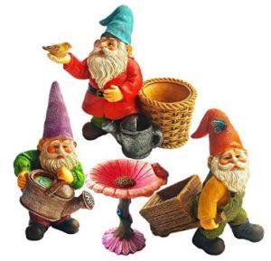 Miniature Gardening Gnomes Set of 4 pcs