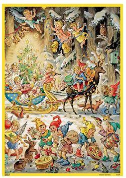Elves with Angels Advent Calendar