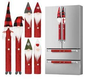 gnome christmas appliance handle covers