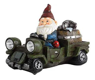 gnome driving a car